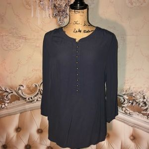 Banana Republic - Classic Navy Blouse